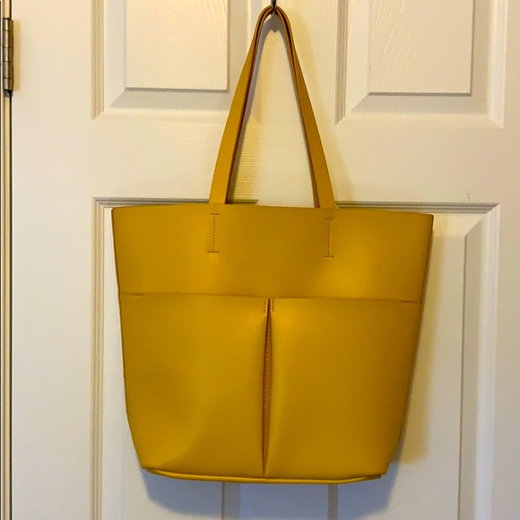 Neiman Marcus Yellow Leather Tote